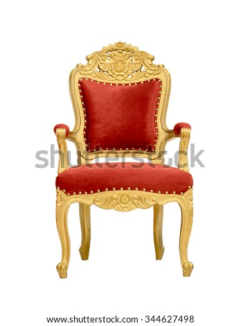 Luxurious armchair isolated on white background. - stock photo
