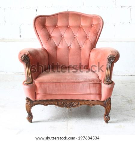 Luxurious armchair vintage - stock photo