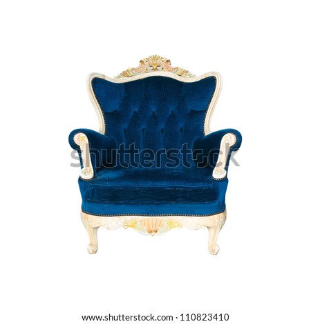 Luxurious armchair with clipng part - stock photo