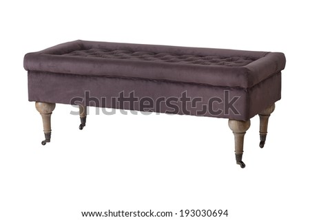 Luxurious banquette seating isolated on a white background - stock photo