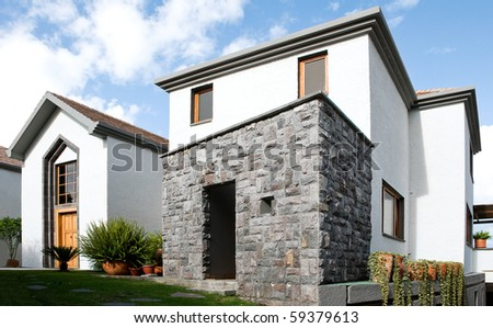 Luxurious big beautiful house - stock photo