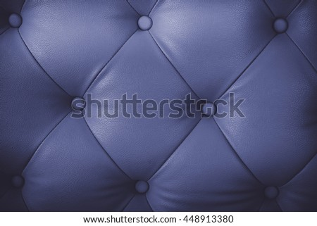 Luxurious brown leather texture furniture with buttons with vintage tone. - stock photo