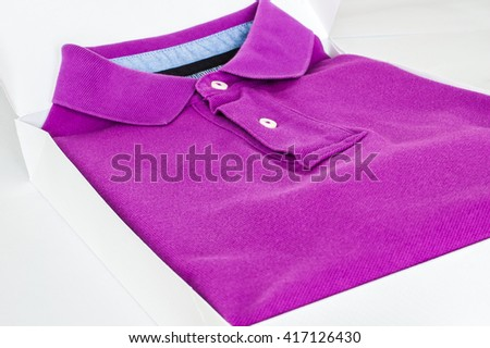 Luxurious fine material 100% cotton polo shirt displayed in gift box.