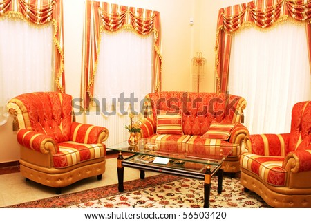 Luxurious furniture at home. - stock photo
