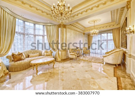 luxurious interior - stock photo