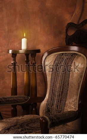 Luxurious interior in the aristocratic style - stock photo