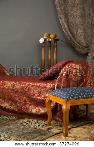 Luxurious interior of the boudoir in the aristocratic style - stock photo