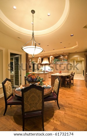 Luxurious Kitchen and Dining Area in New Home