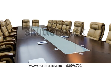 luxurious meeting room in a big corporation