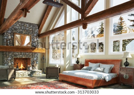 Cabin Stock Images RoyaltyFree Images Vectors Shutterstock - Christmas cabin fireplace scenes