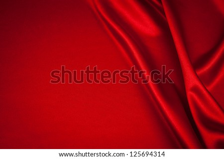 luxurious red satin background close up - stock photo