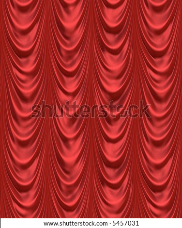 luxurious red velevet curtains such as on a stage or theatre
