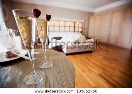 Luxurious resort suite - stock photo