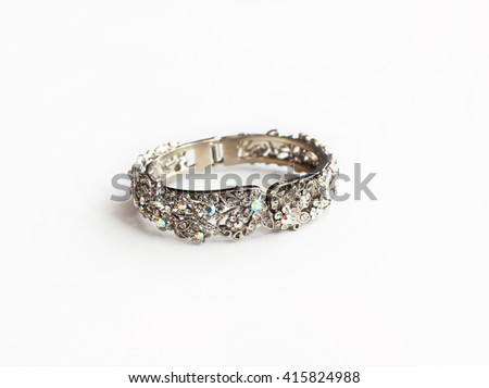 Luxurious Silver Crystal Bracelet