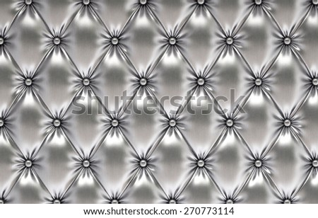 luxurious silver leather - stock photo