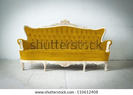 Luxurious sofa in white room - stock photo