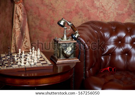Luxurious vintage interior - stock photo