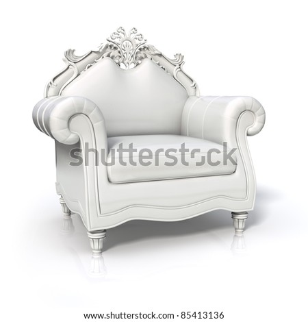 Luxurious white armchair