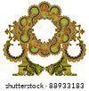 Luxuriously illustrated old Victorian frame. - stock photo