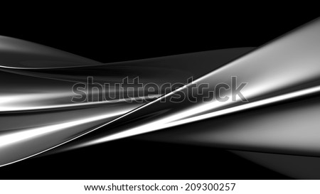 Luxury abstract silver metallic twisted art background 3d illustration