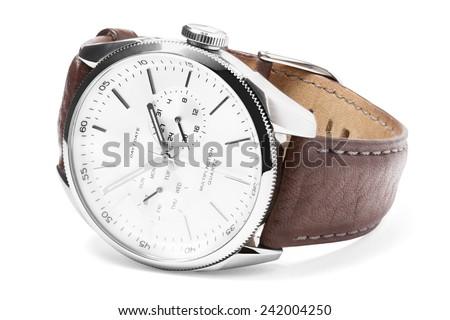 Luxury analog Wristwatch - stock photo
