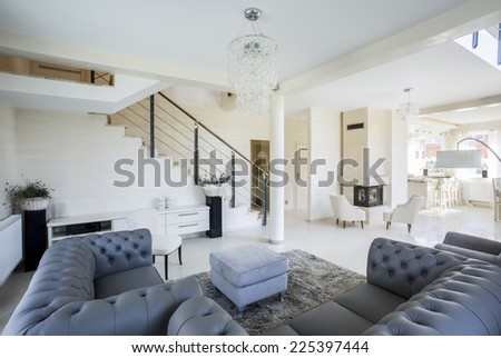 Luxury and traditional design in luxury apartment - stock photo