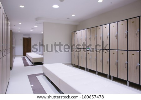 luxury and very clean dressing room in european style - stock photo