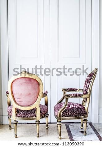 Luxury antique chair. - stock photo