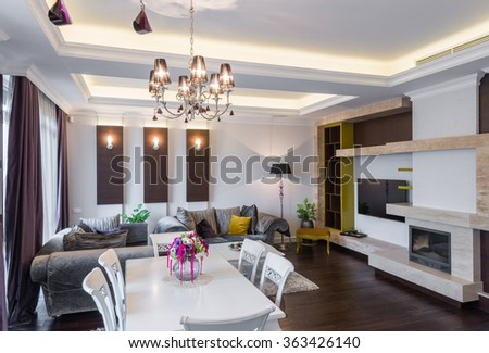 Luxury apartment interior