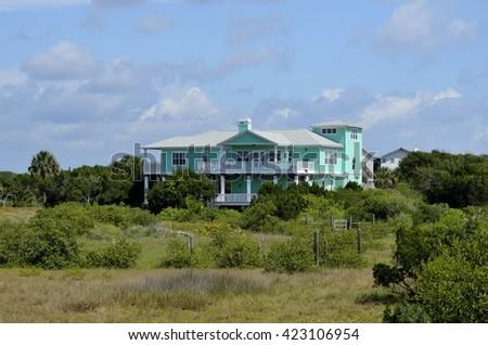 Luxury Apartment near the marshland of Florida, USA - stock photo