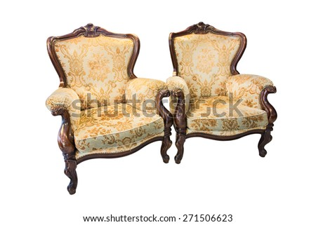 Luxury armchair isolated on over white background