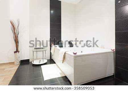 Luxury Bathroom With Jacuzzi Bath