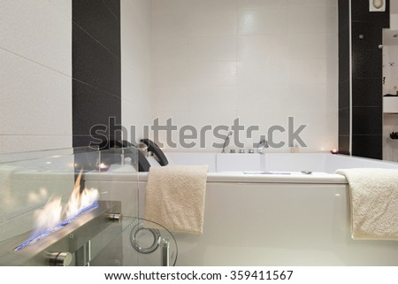 Luxury bathroom with jacuzzi bath