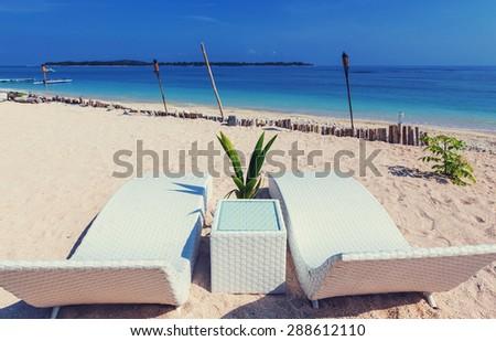 Luxury beach - stock photo