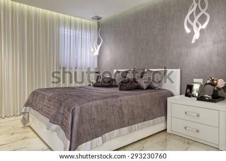 Luxury Bedroom Design  - stock photo
