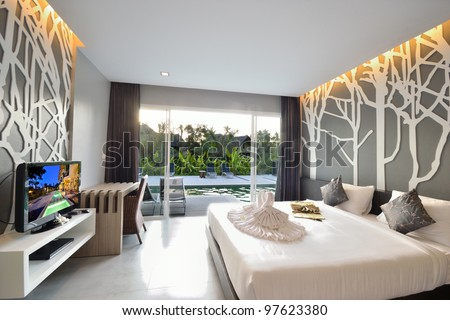 Luxury bedroom interior design for modern life style.