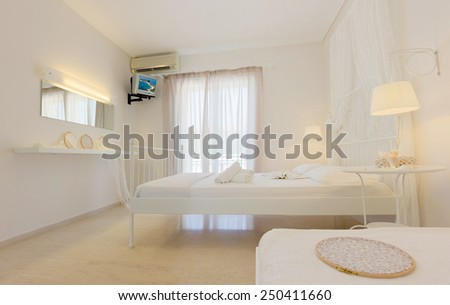 luxury bedroom interior of a beautiful decorated apartment