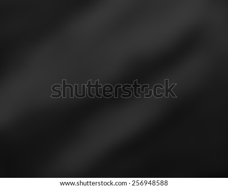 luxury black background material with soft folds or drapes, dark sophisticated background cloth or fabric illustration with smeared blurred black paint - stock photo
