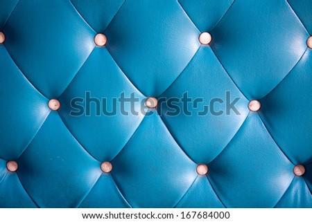 Luxury blue leather background. - stock photo