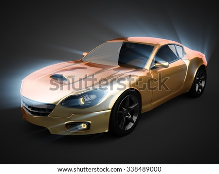 luxury brandless sport car
