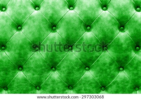 luxury buttoned green leather background