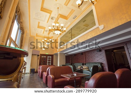 Luxury cafe interior