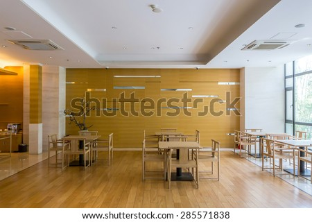 Luxury cafe interior and furniture - stock photo