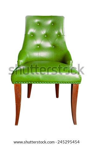 luxury chair isolated with clipping path  - stock photo