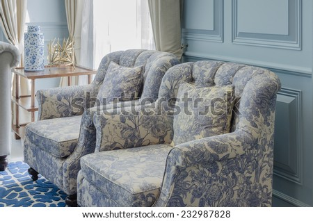 luxury chair style in living room at home - stock photo