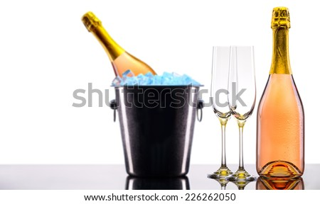luxury champagne set a very festive background