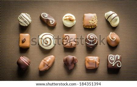 Luxury chocolate candies - stock photo