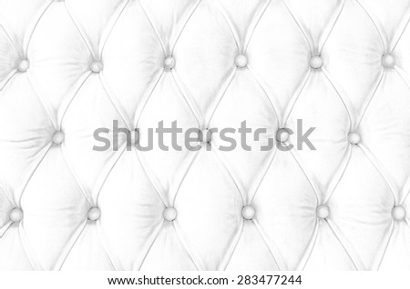 Luxury classic white leather texture for back ground. - stock photo
