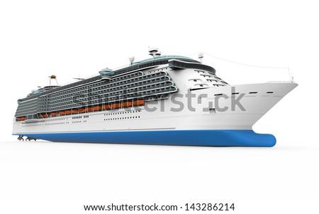 Luxury Cruise Ship - stock photo
