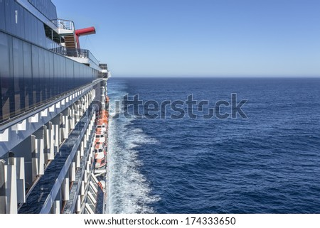 Luxury cruise ship at sea - stock photo